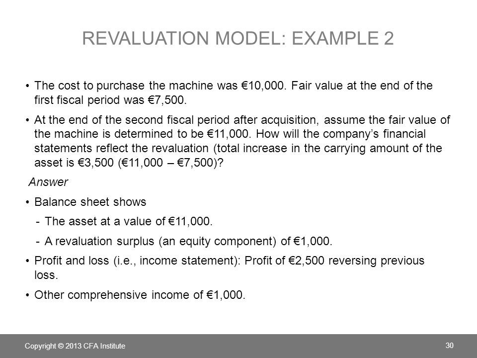 revaluation model: example 2