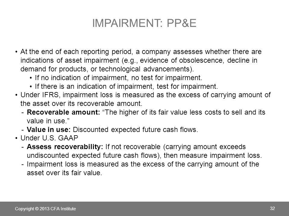 Impairment: PP&E
