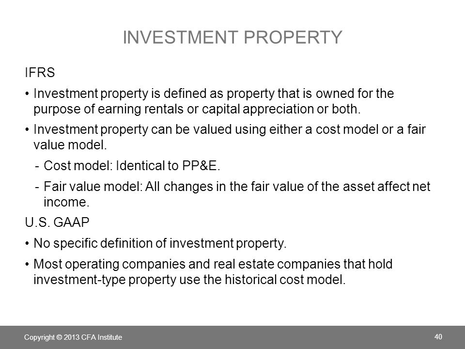 Investment property IFRS