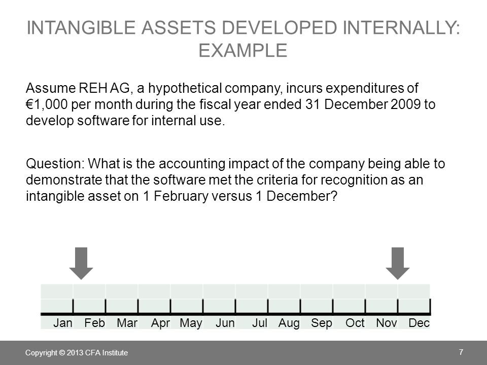 Intangible Assets Developed Internally: example