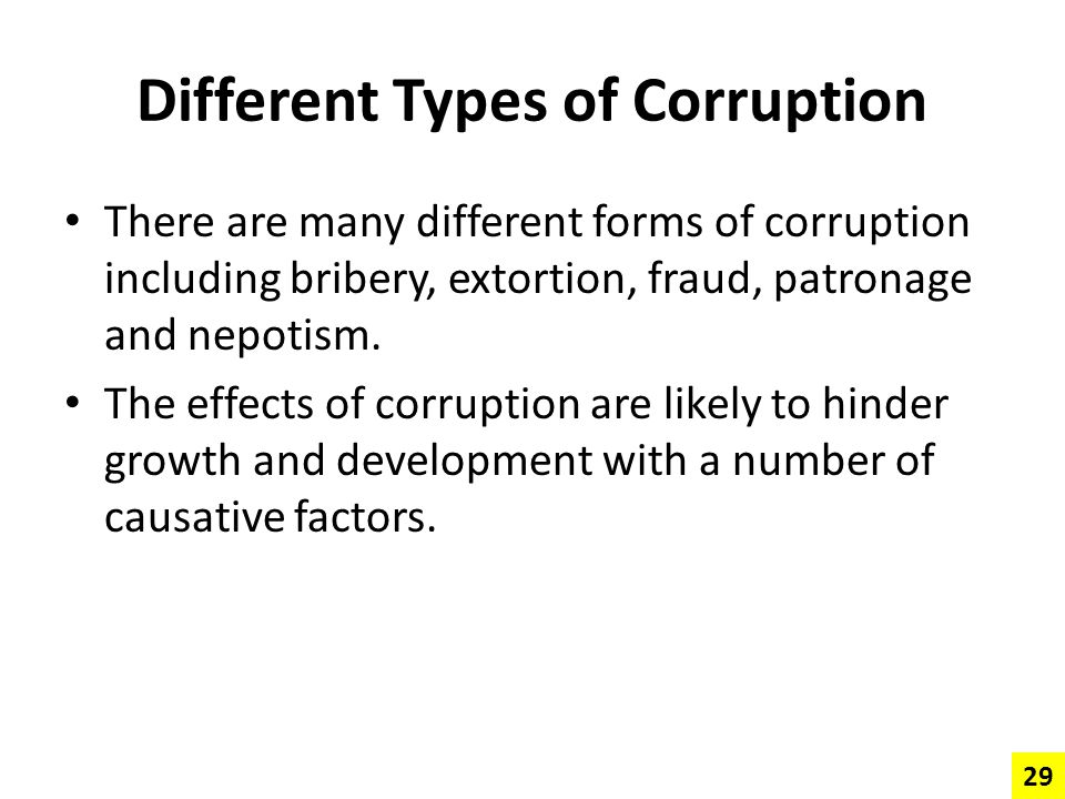Different Types of Corruption