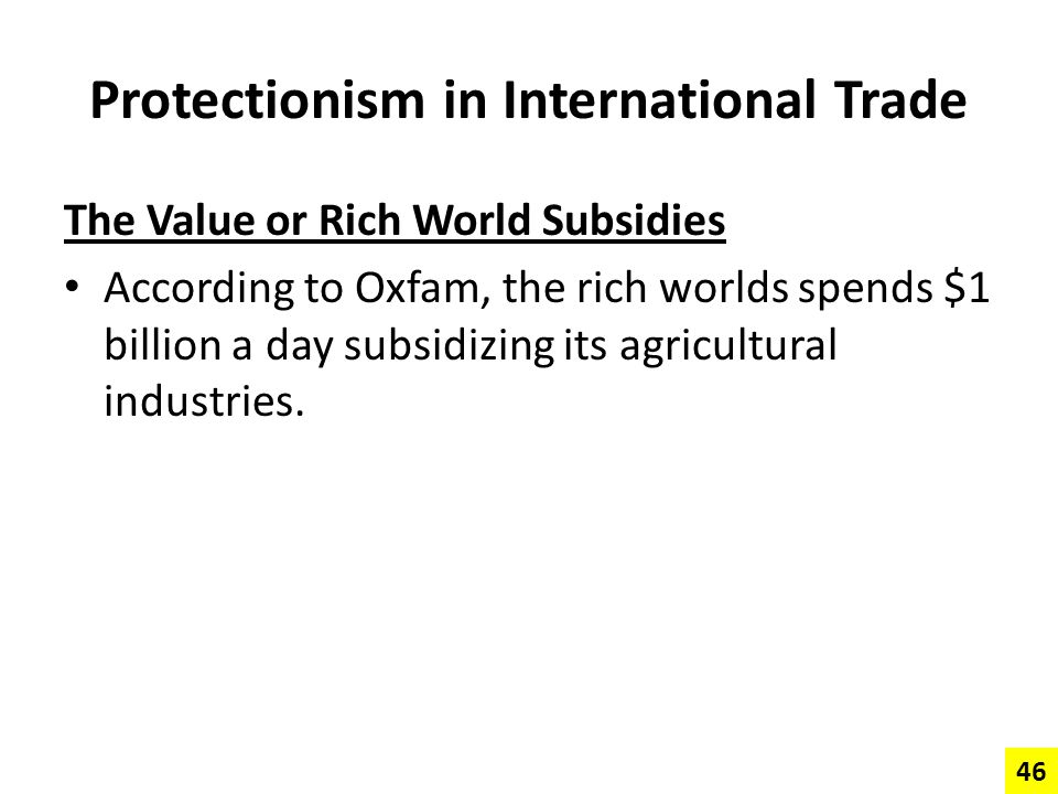 Protectionism in International Trade