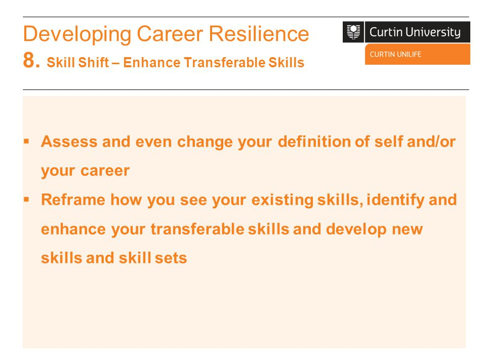 Developing Career Resilience 8