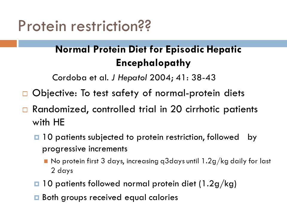 Normal Protein Diet for Episodic Hepatic Encephalopathy