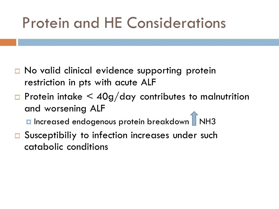 Protein and HE Considerations
