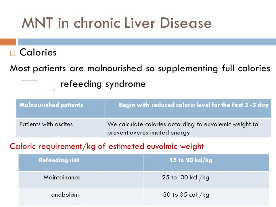 MNT in chronic Liver Disease