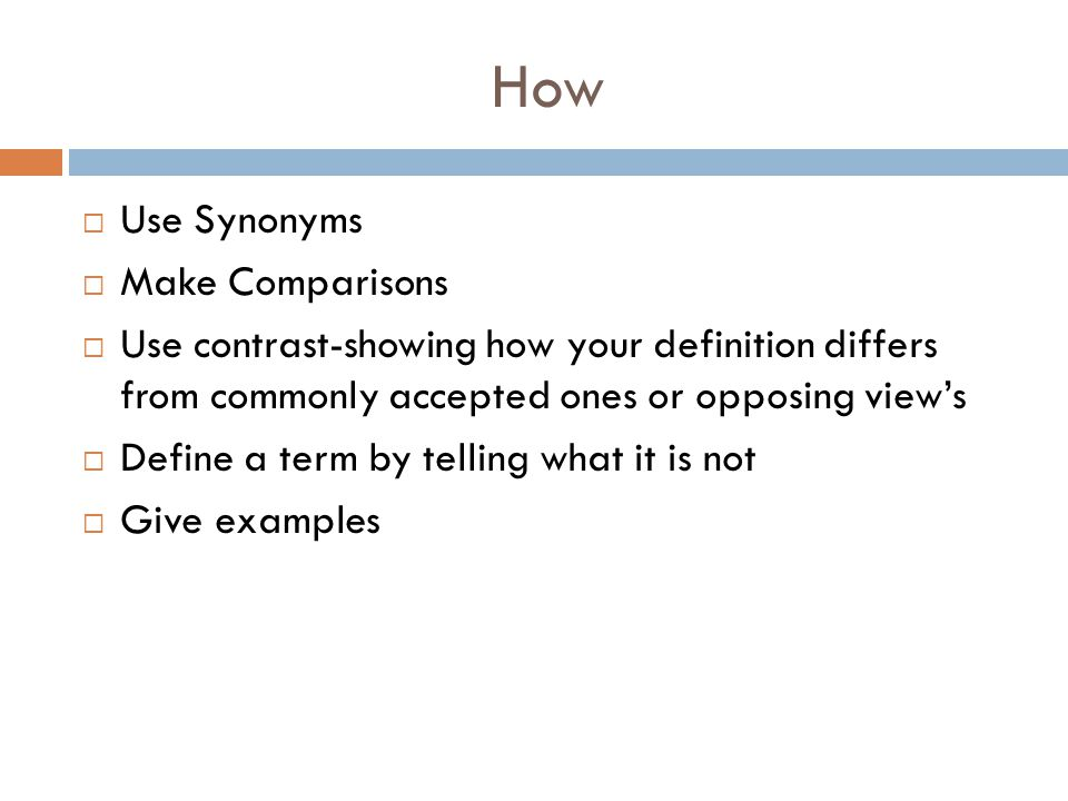 How Use Synonyms Make Comparisons