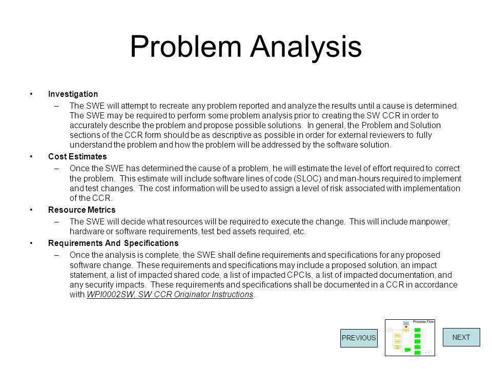 Problem Analysis Investigation