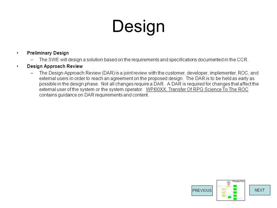 Design Preliminary Design