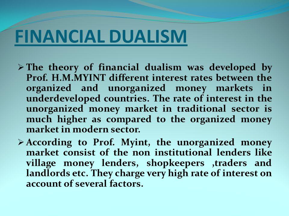 FINANCIAL DUALISM