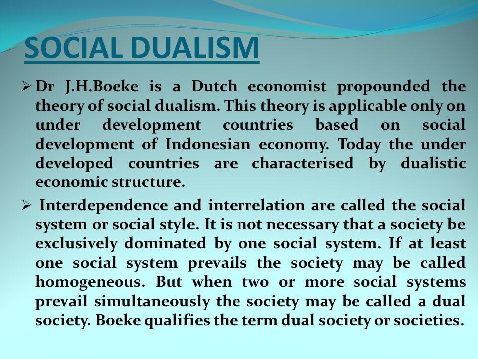 SOCIAL DUALISM