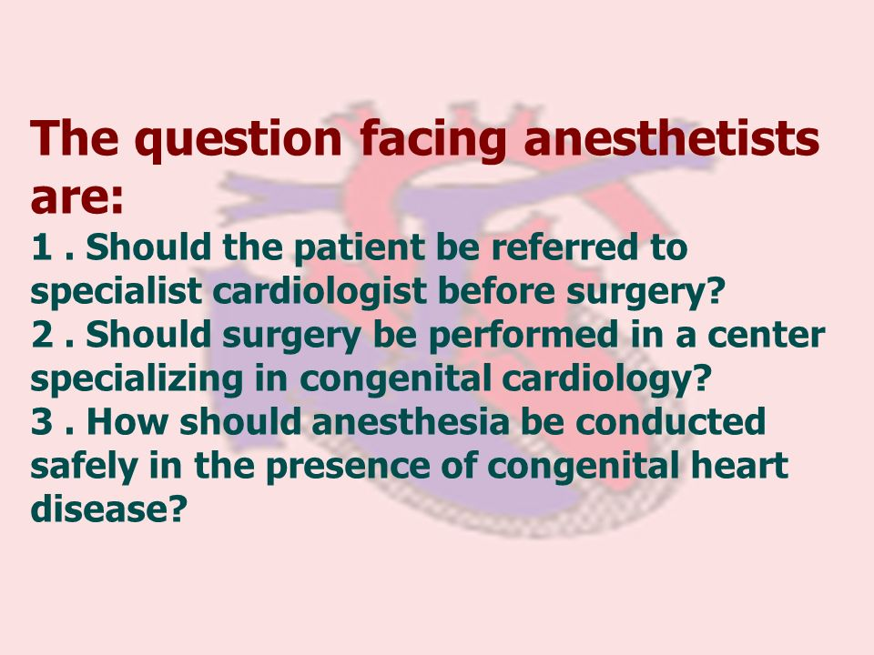 The question facing anesthetists are: