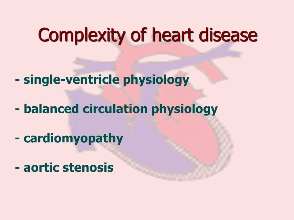 Complexity of heart disease