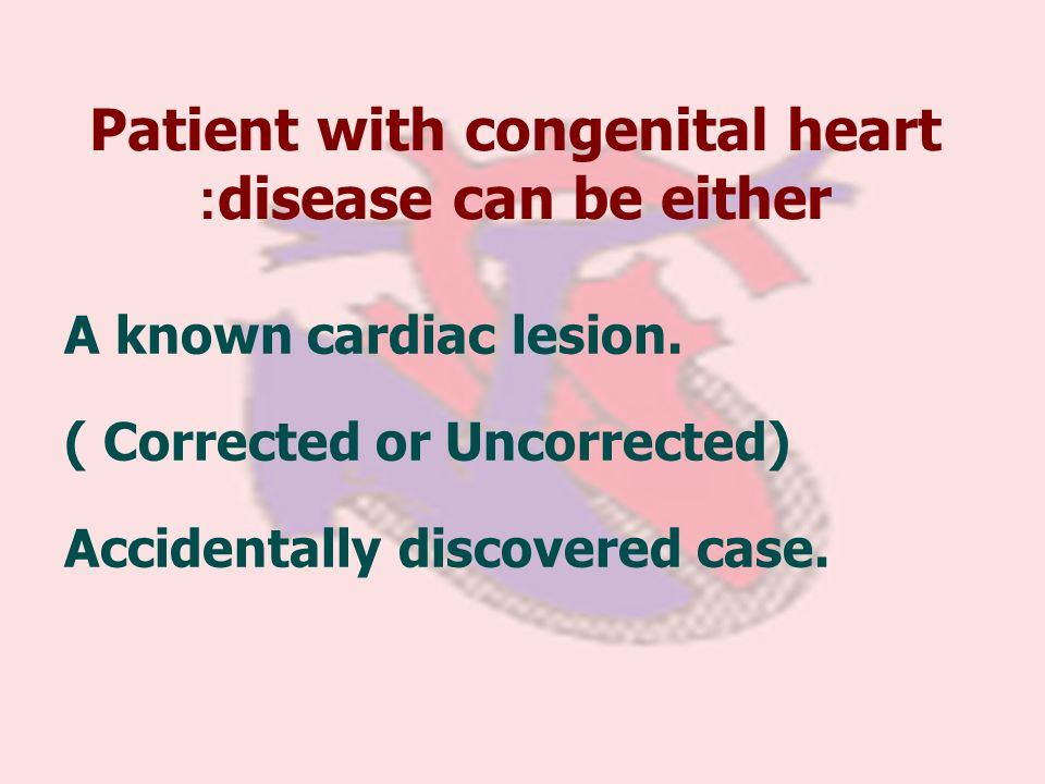 Patient with congenital heart disease can be either:
