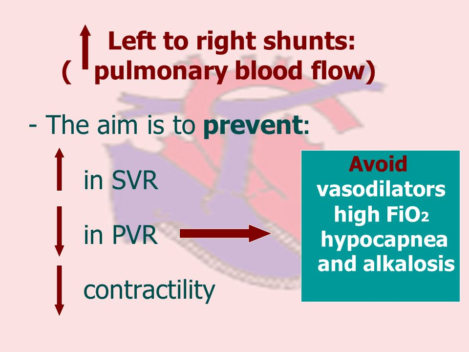 Left to right shunts: ( pulmonary blood flow)