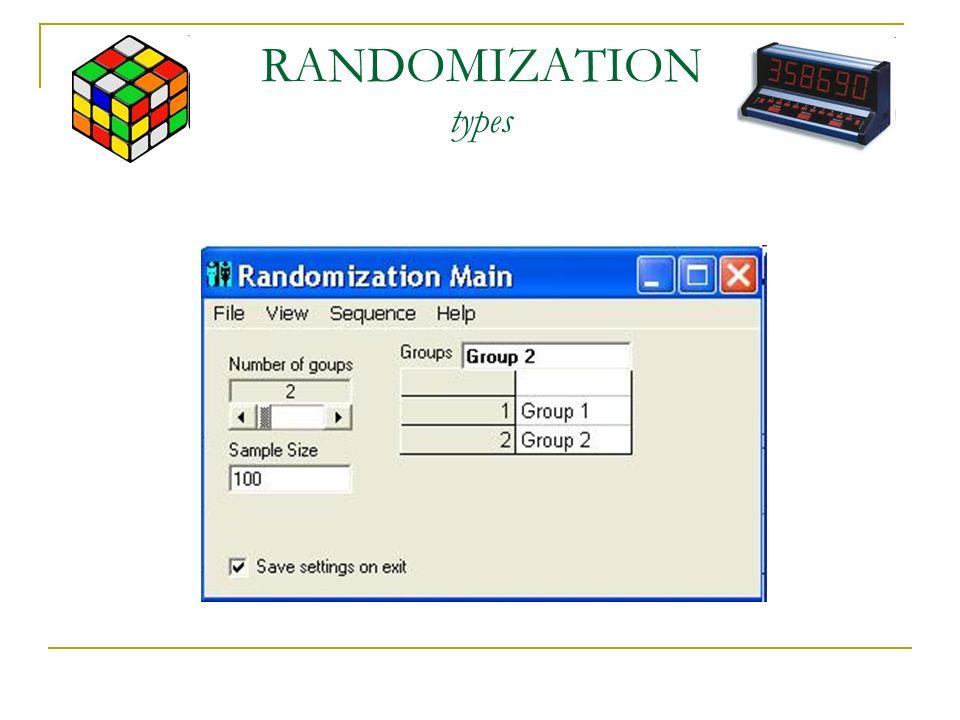 RANDOMIZATION types