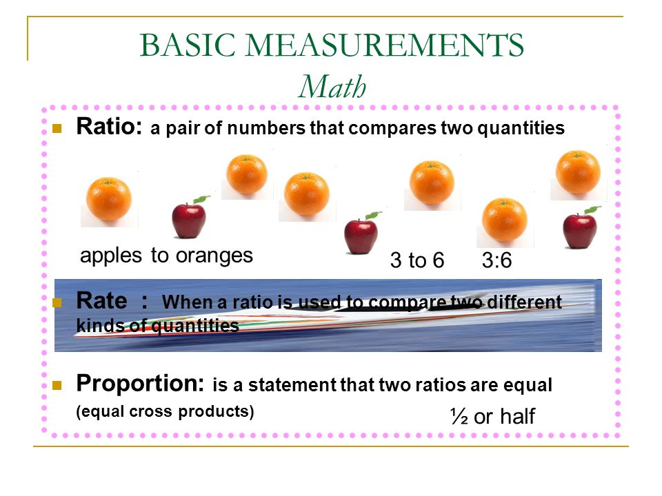 BASIC MEASUREMENTS Math