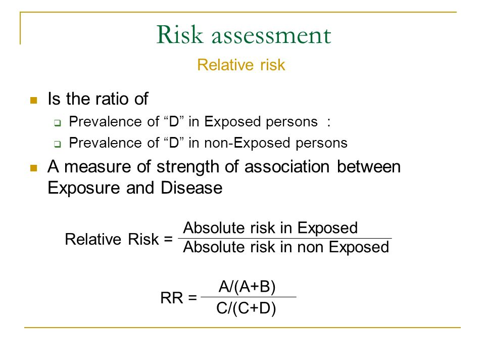 Risk assessment Is the ratio of