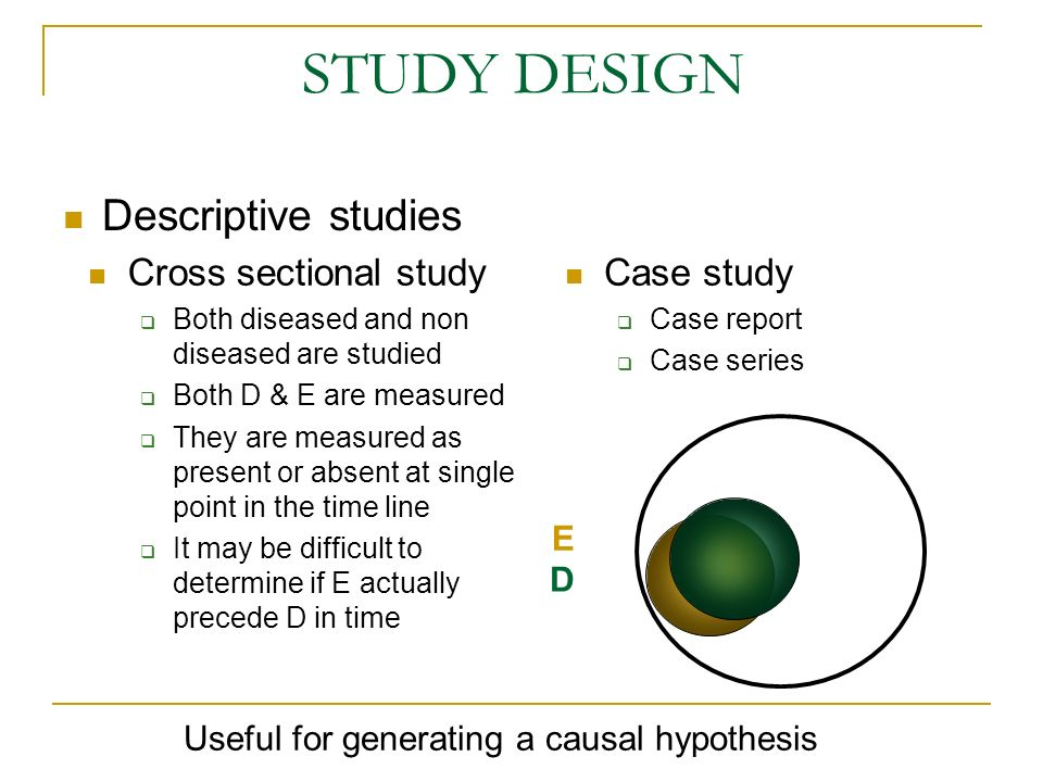 Useful for generating a causal hypothesis