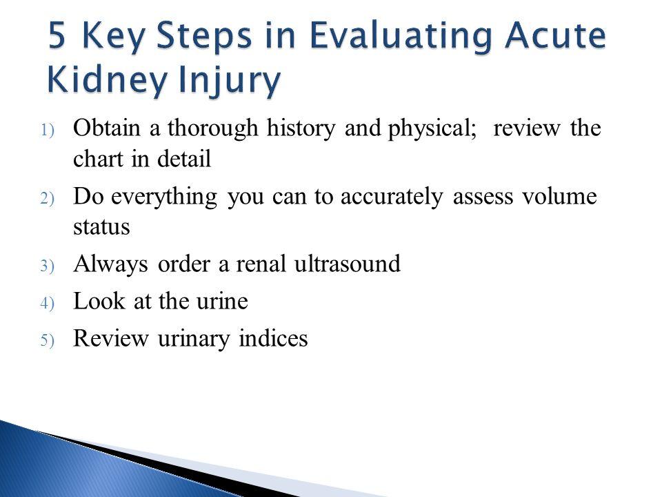 5 Key Steps in Evaluating Acute Kidney Injury