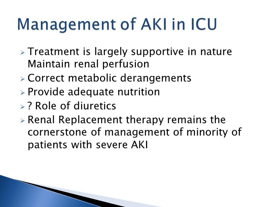 Management of AKI in ICU