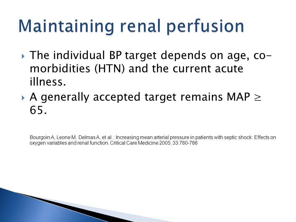 Maintaining renal perfusion