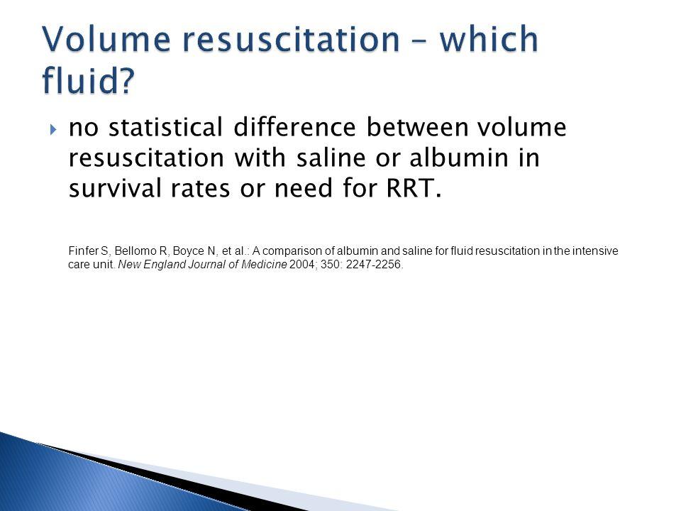Volume resuscitation – which fluid
