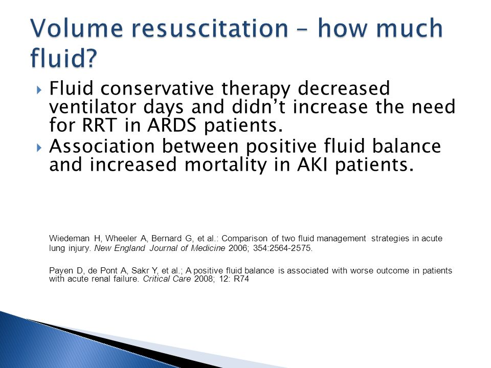 Volume resuscitation – how much fluid