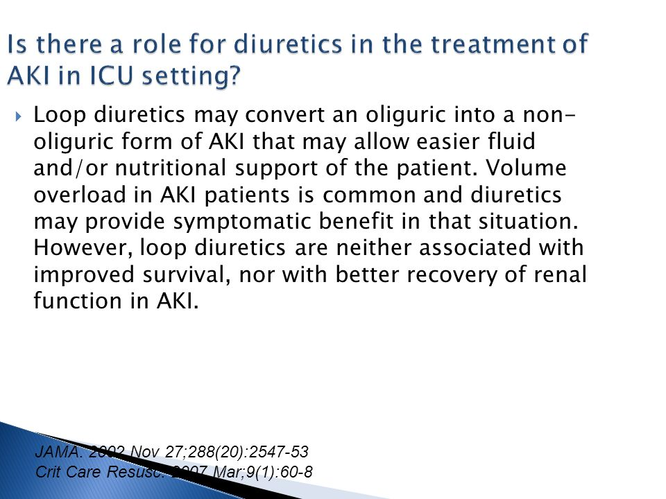 Is there a role for diuretics in the treatment of AKI in ICU setting