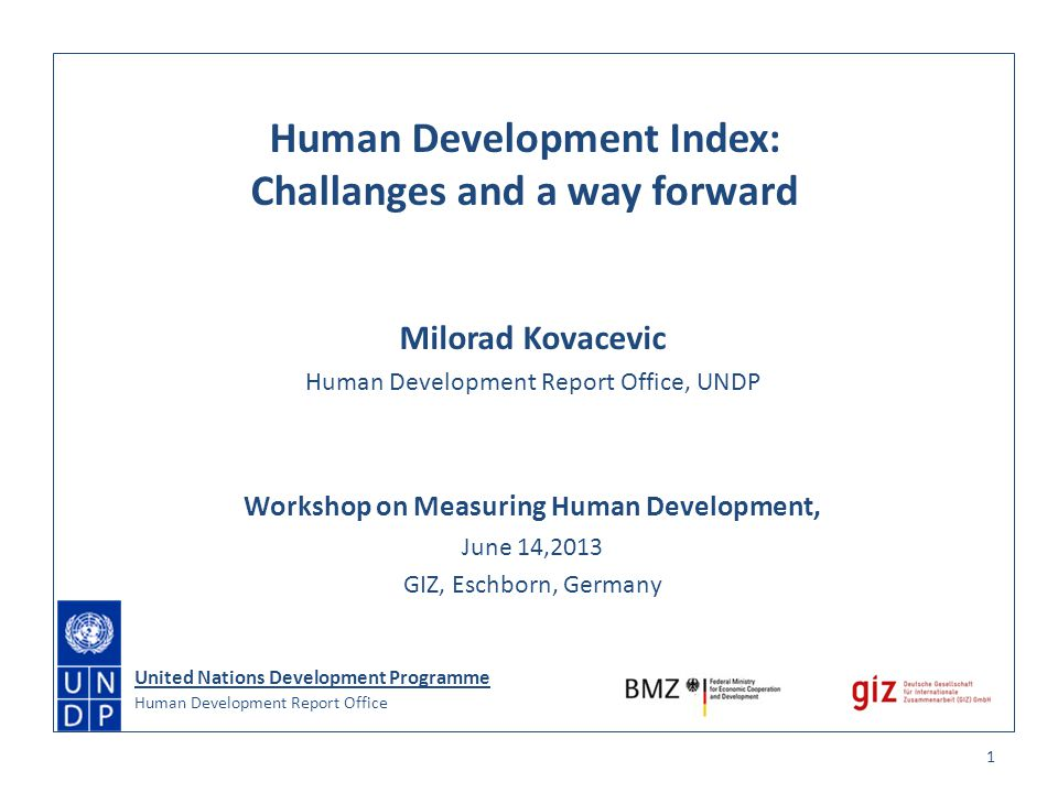 Human Development Index: Challanges and a way forward