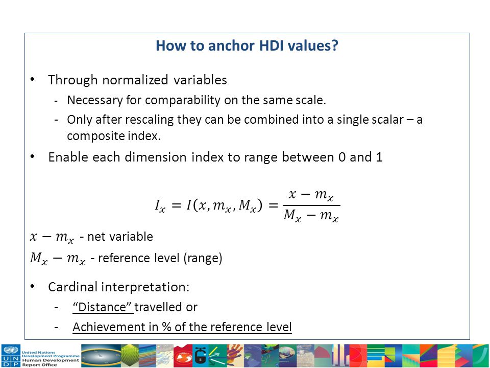 How to anchor HDI values