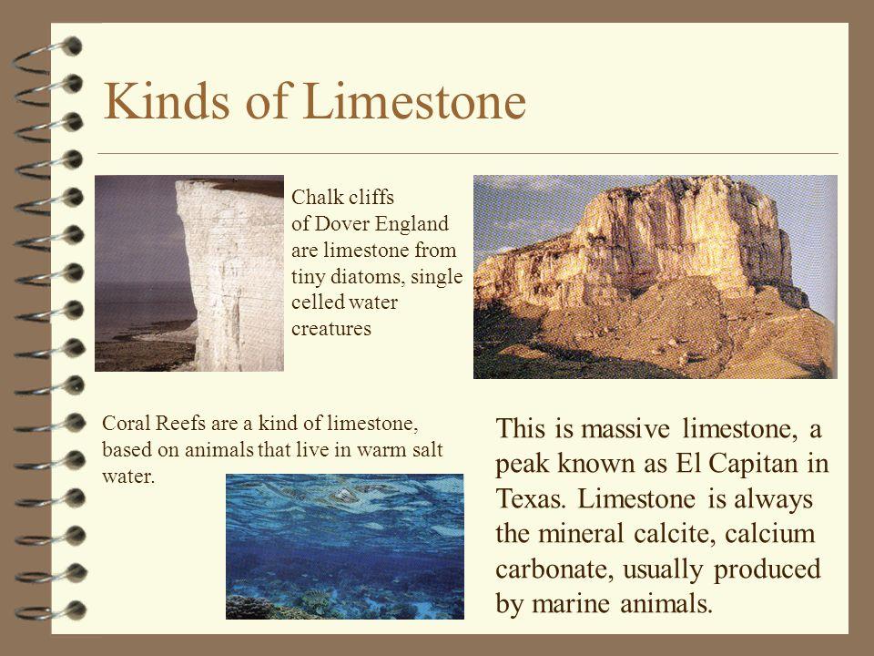 Kinds of Limestone This is massive limestone, a