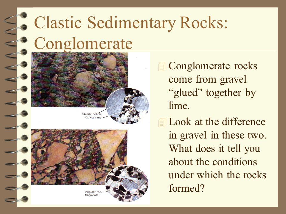 Clastic Sedimentary Rocks: Conglomerate