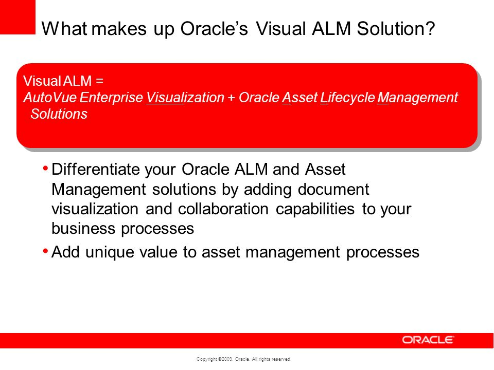 What makes up Oracle's Visual ALM Solution