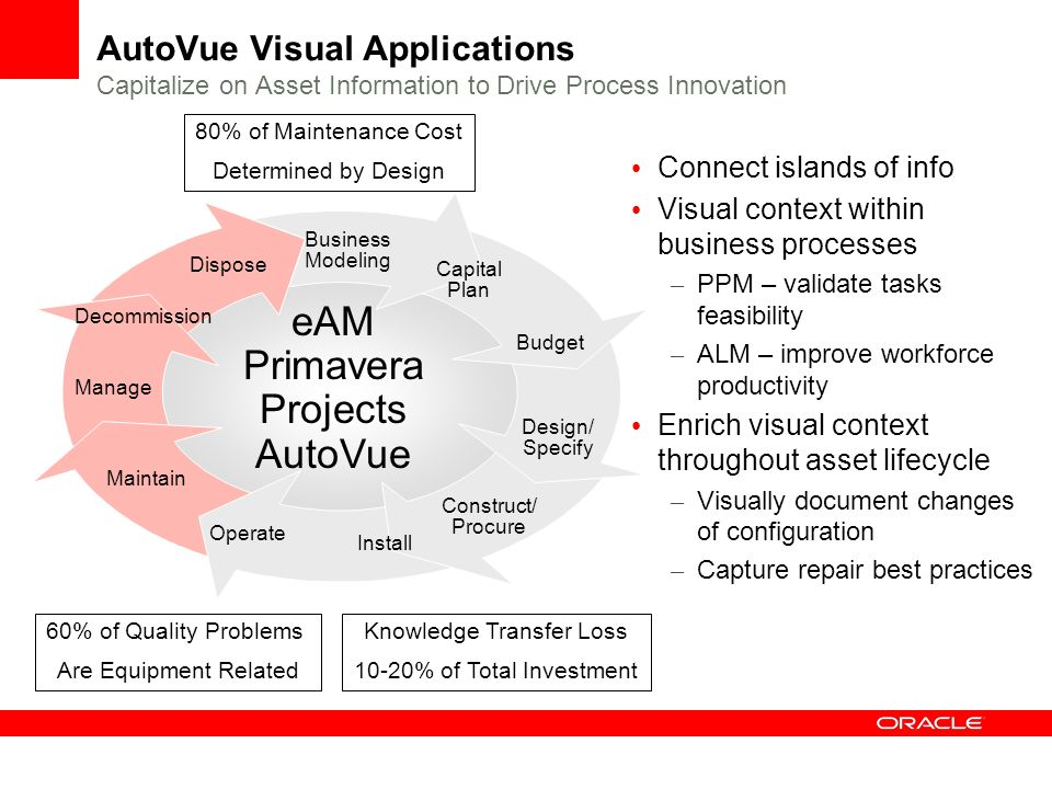 eAM Primavera Projects AutoVue