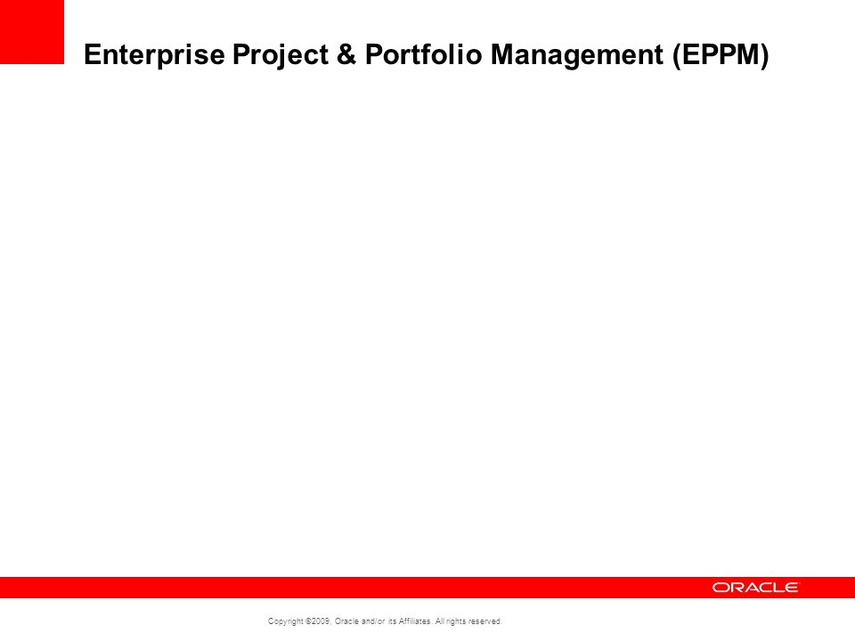 Enterprise Project & Portfolio Management (EPPM)