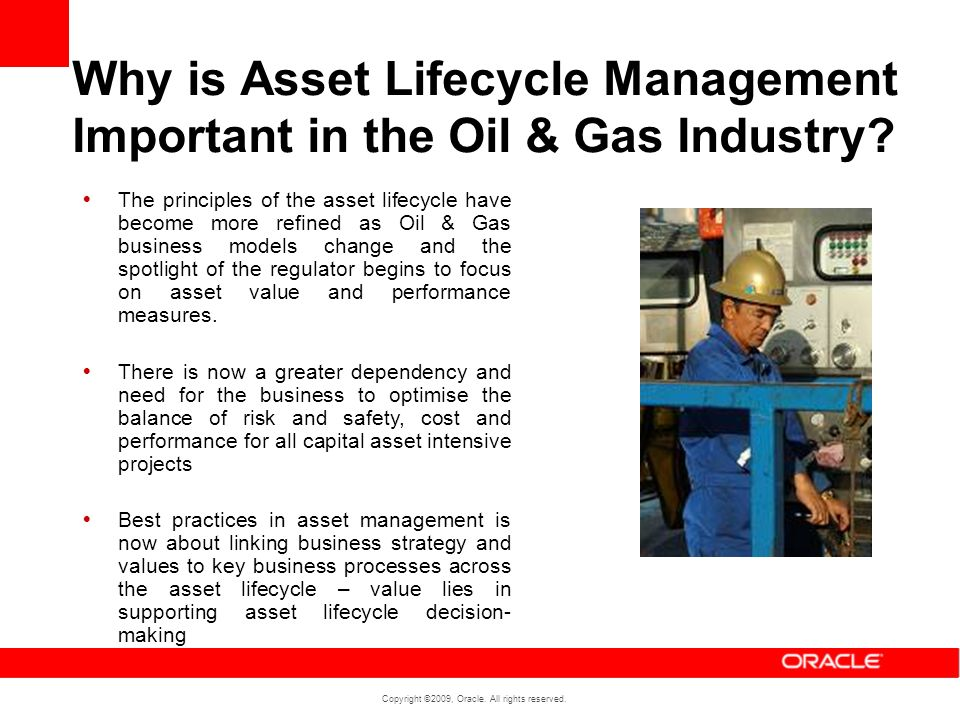 Why is Asset Lifecycle Management Important in the Oil & Gas Industry
