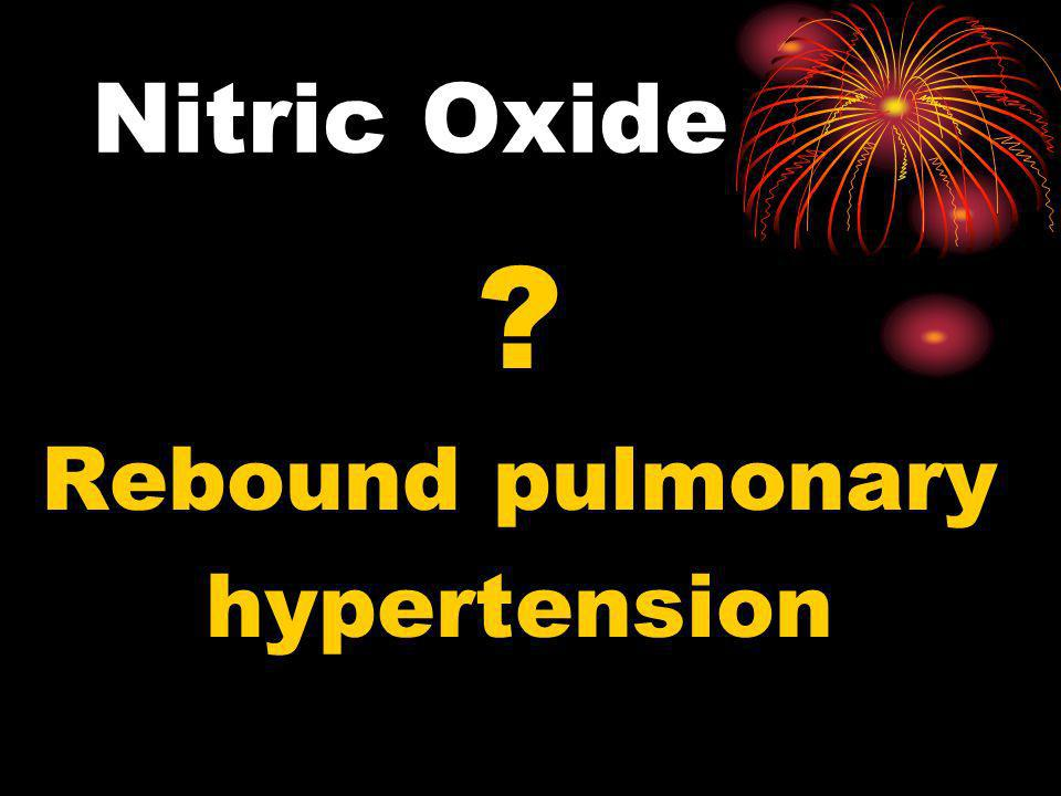 Nitric Oxide Rebound pulmonary hypertension