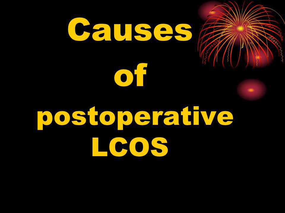Causes of postoperative LCOS