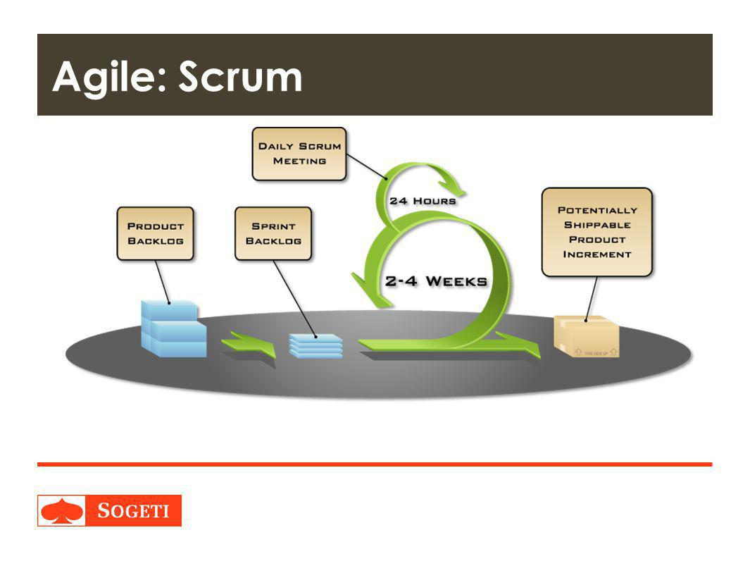 Agile: Scrum As said, Scrum is the best documented Agile approach worldwide. This approach is based on only a few roles.