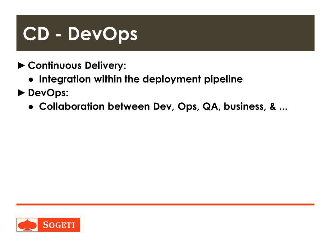 CD - DevOps Continuous Delivery:
