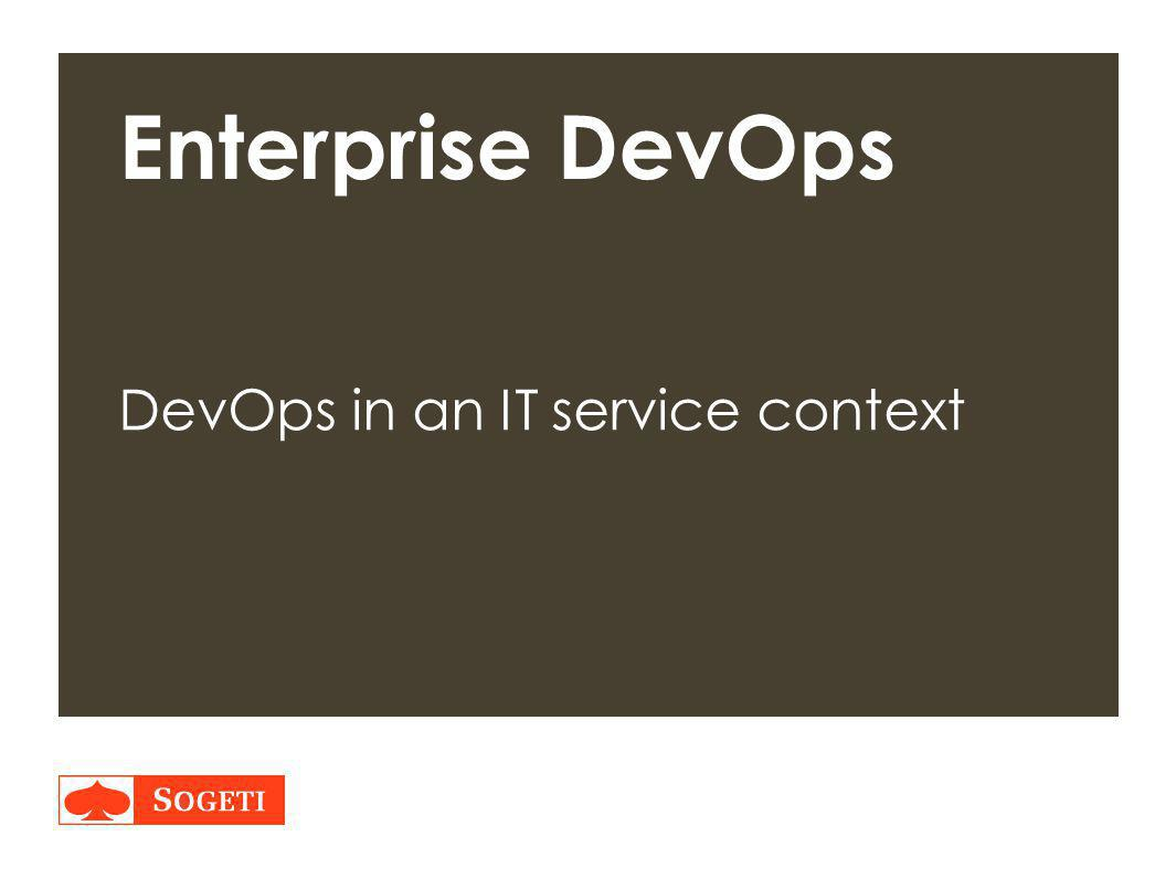DevOps in an IT service context