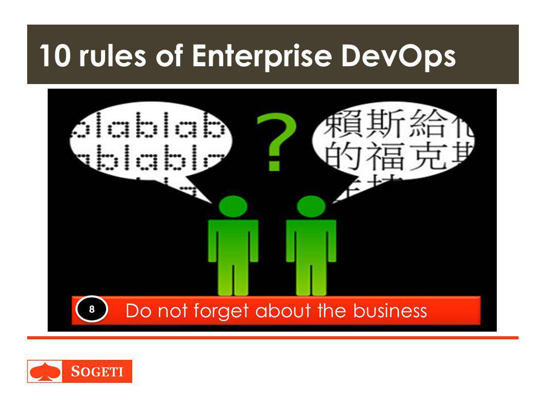 10 rules of Enterprise DevOps