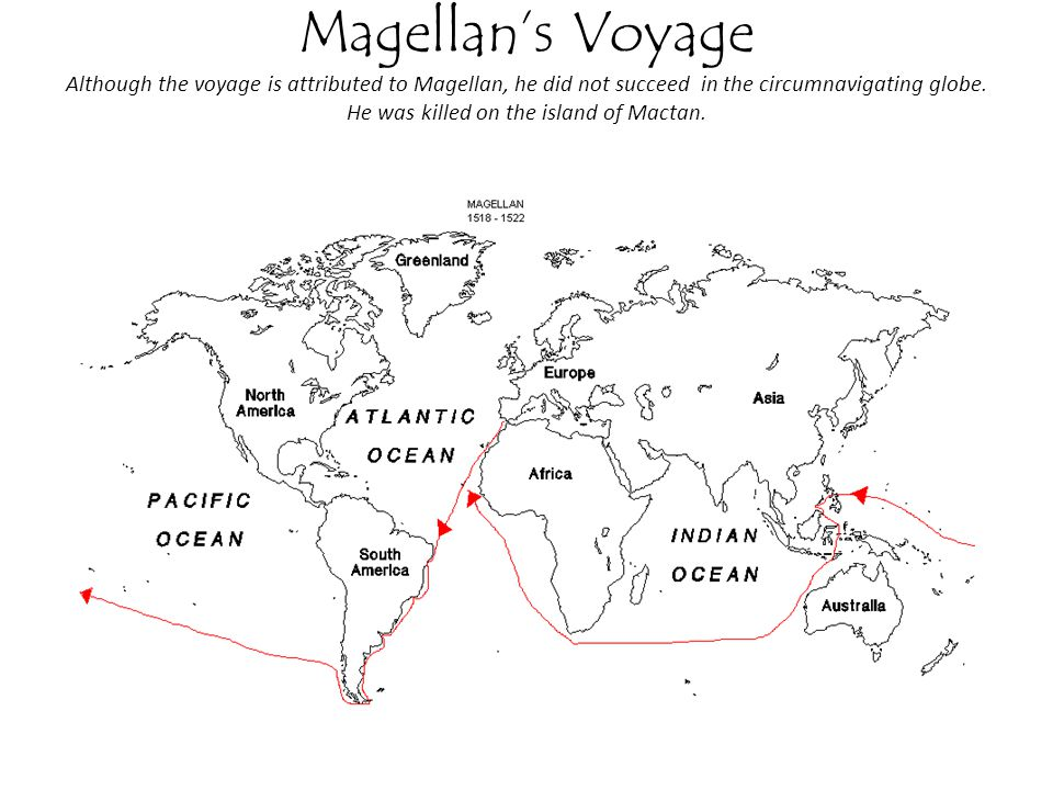 Magellan's Voyage Although the voyage is attributed to Magellan, he did not succeed in the circumnavigating globe.
