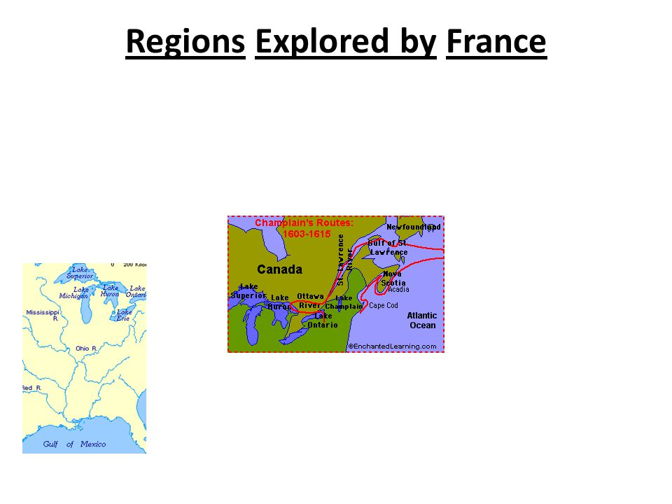 Regions Explored by France