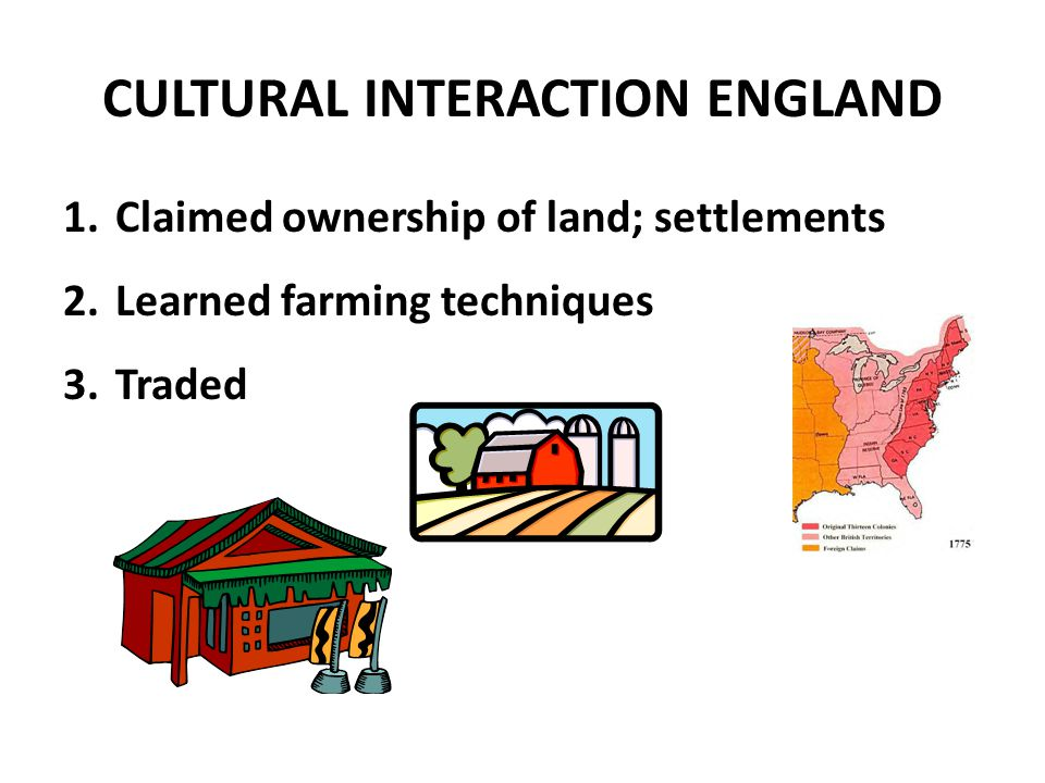 CULTURAL INTERACTION ENGLAND