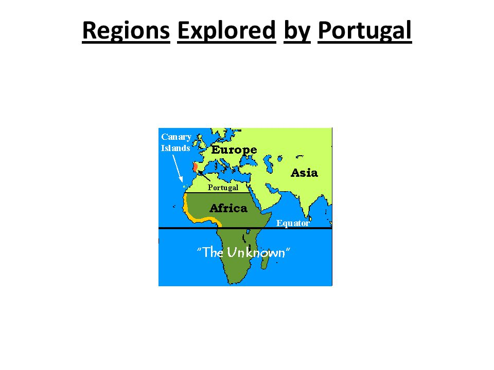 Regions Explored by Portugal