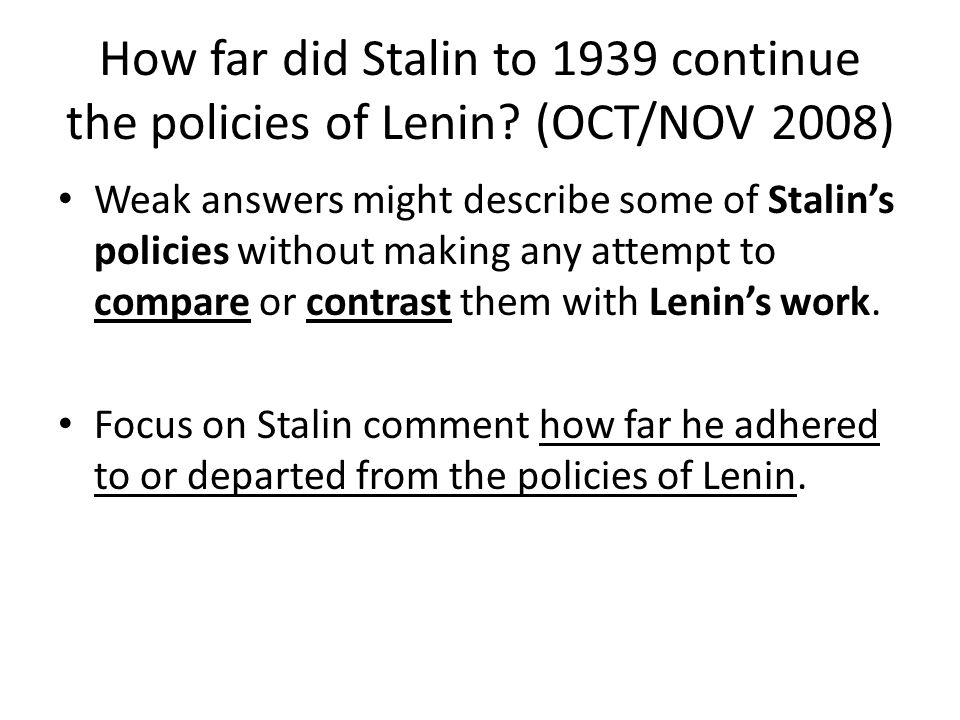 How far do stalins fears and
