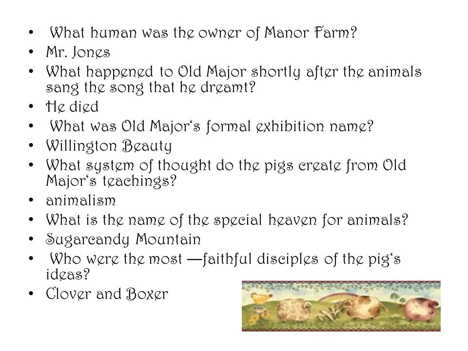 What human was the owner of Manor Farm