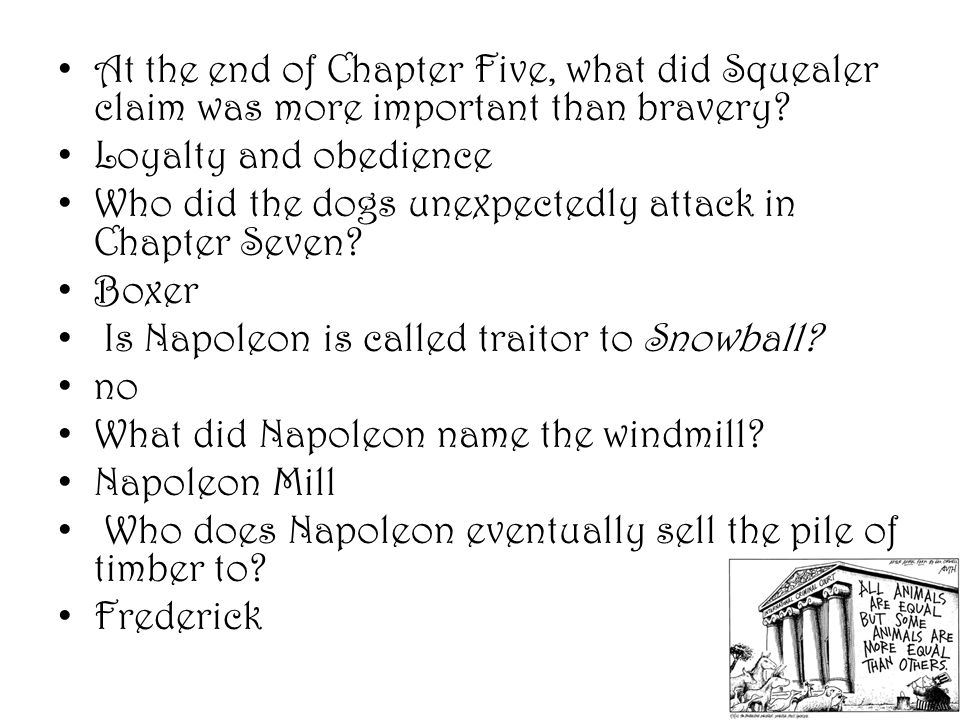 At the end of Chapter Five, what did Squealer claim was more important than bravery